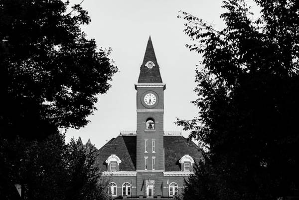 Fayetteville Photograph - Fayetteville Arkansas Downtown Courthouse Black And White  by Gregory Ballos