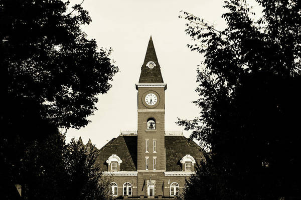 Fayetteville Photograph - Fayetteville Arkansas Downtown Courthouse Sepia by Gregory Ballos