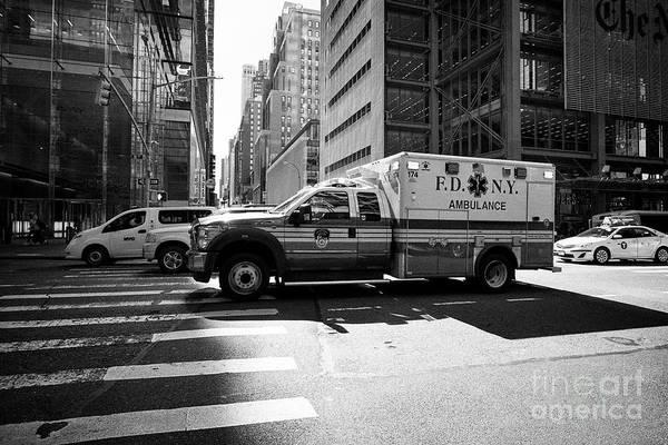 Fdny Photograph - fdny ambulance New York City USA by Joe Fox