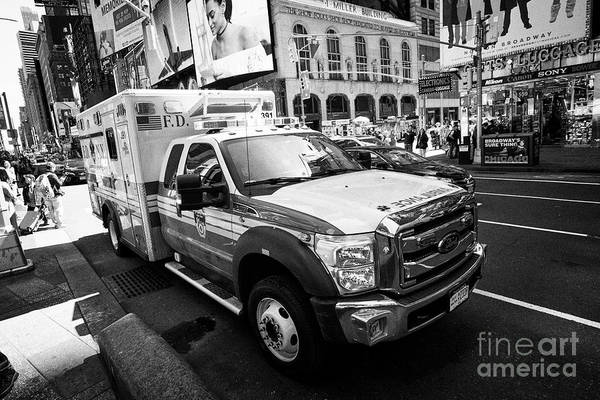 Fdny Photograph - fdny ambulance times square New York City USA by Joe Fox