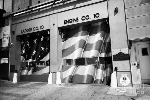 Wall Art - Photograph - fdny engine 10 ladder 10 company station liberty street New York City USA by Joe Fox