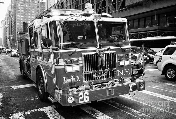 Fdny Photograph - fdny engine New York City USA by Joe Fox