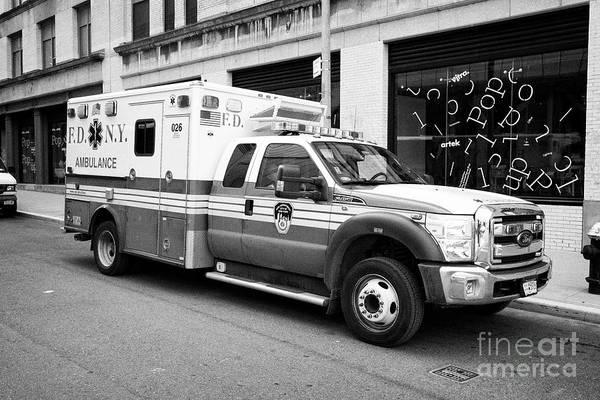 Fdny Photograph - Fdny F-450 Super Duty Ford Ambulance New York City Usa by Joe Fox