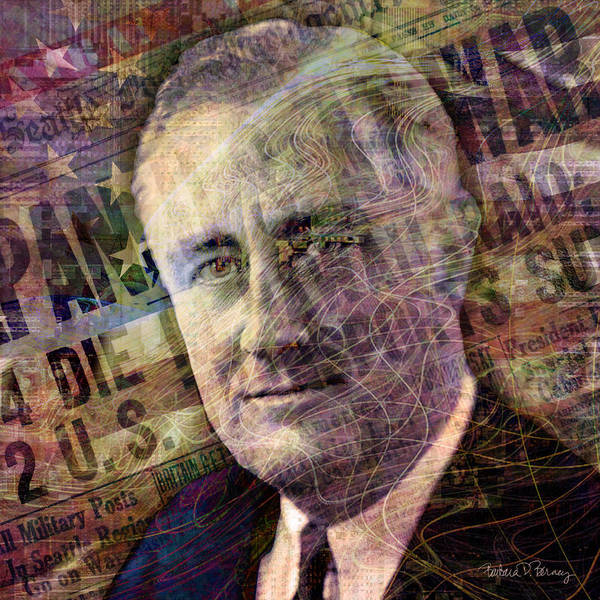 Digital Art - FDR by Barbara Berney