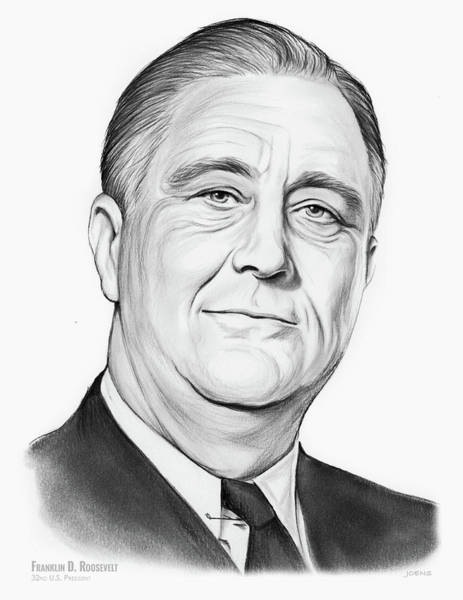 Wall Art - Drawing - FDR by Greg Joens