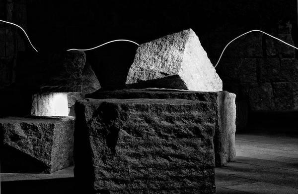 Wall Art - Photograph - Fdr Memorial Rocks And Light by Paul Basile