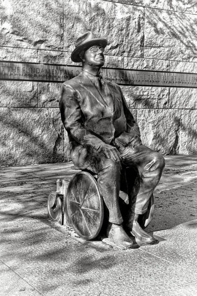 Wall Art - Photograph - Fdr Memorial Sculpture In Wheelchair by Olivier Le Queinec