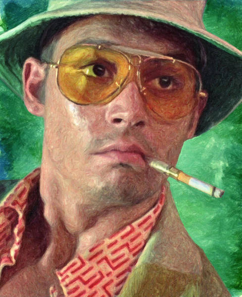 Johnny Depp Painting - Fear And Loathing by Zapista Zapista