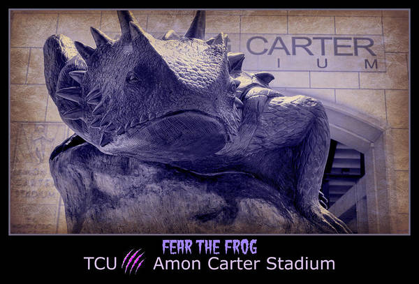 Wall Art - Photograph - Fear The Frog - Tcu Poster by Stephen Stookey