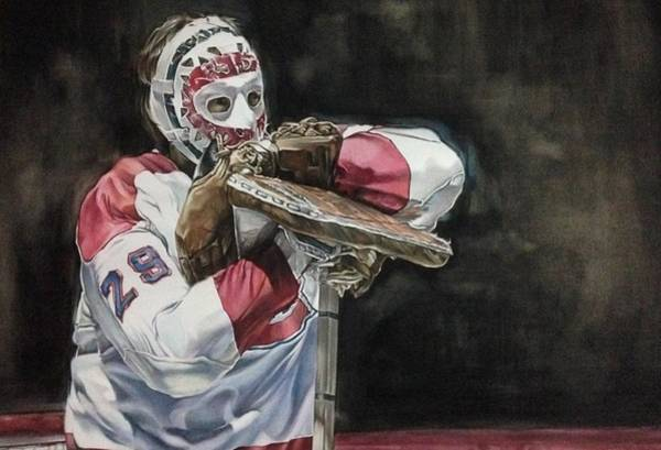 Montreal Canadiens Painting - Fear The Mask by Kieran Hassey