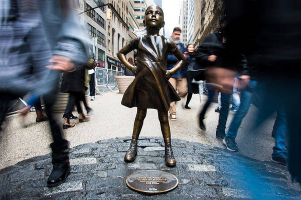 Photograph - Fearless Girl by Stephen Holst