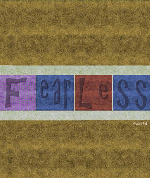 Mixed Media - Fearless by Patricia Griffin