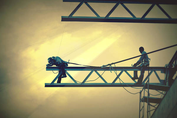 Photograph - Fearless Sky Workers by Tatiana Travelways