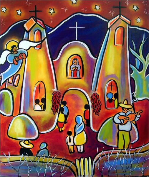 Painting - Feast Day Celebration by Jan Oliver-Schultz