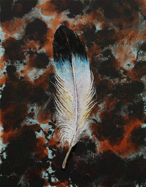 White Feathers Painting - Feather by Michael Creese