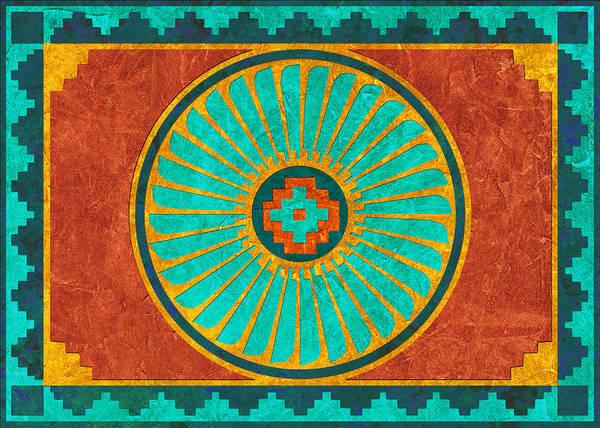 Southwest Digital Art - Feather Wheel by Linda Henry