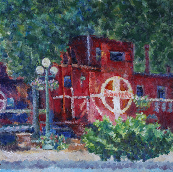 Red Caboose Painting - Featherbed Railroad Caboose by Joe  Geare