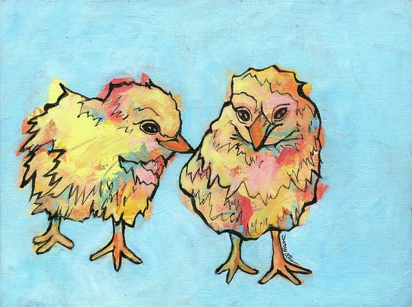 Painting - Feathered Friends by Darcy Lee Saxton