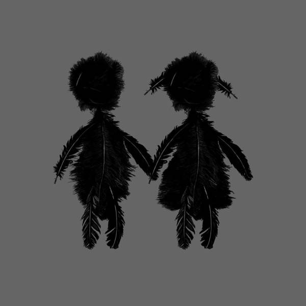 Playing Digital Art - Featherman And Feathergirl From Playing The Angel by Luc Lambert