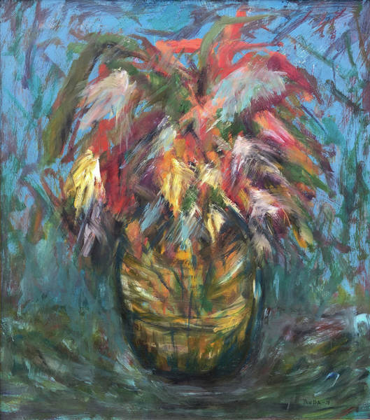Painting - Feathers In Vase by Katt Yanda