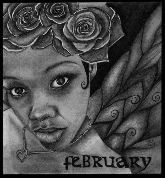 Wall Art - Drawing - February Fairy by Alycia Ryan