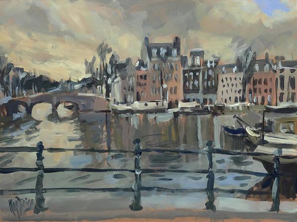 February Morning Along The Amstel Art Print