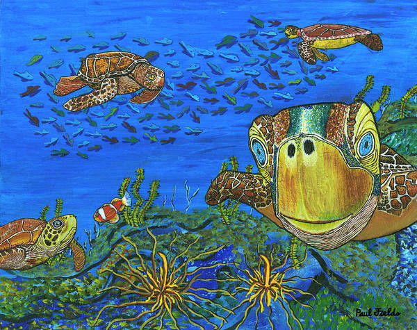 Clownfish Painting - February by Paul Fields