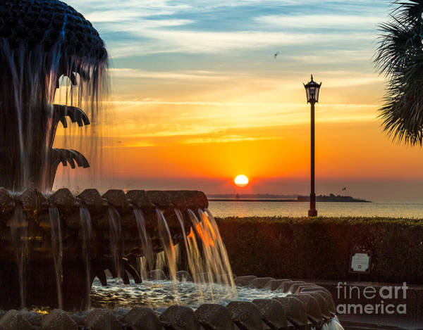 Photograph - February Sunrise From Charleston Waterfront Park by Donnie Whitaker