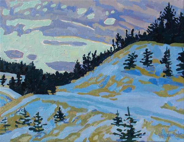 Watershed Painting - February Sunrise by Phil Chadwick