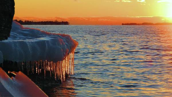 Photograph - Feburary Sunset Cape Vincent by Dennis McCarthy