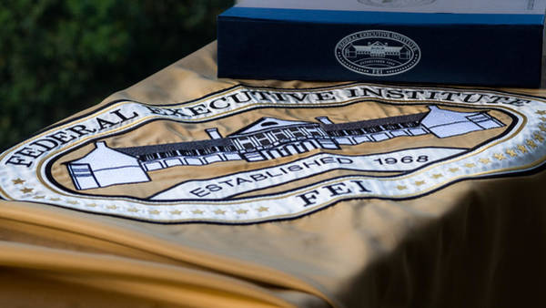 Photograph - Federal Executive Institute Embroidered Banner by Lori Coleman