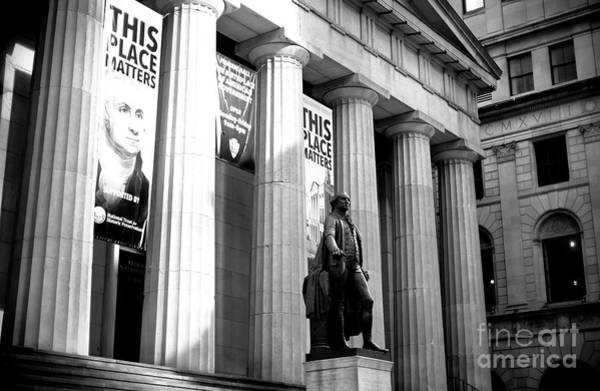 Photograph - Federal Hall New York City by John Rizzuto
