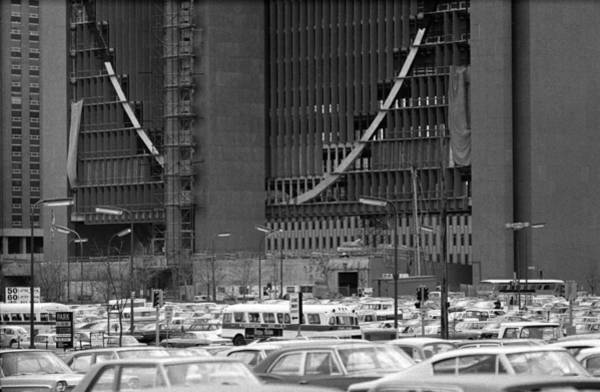 Photograph - Federal Reserve Under Construction by Mike Evangelist