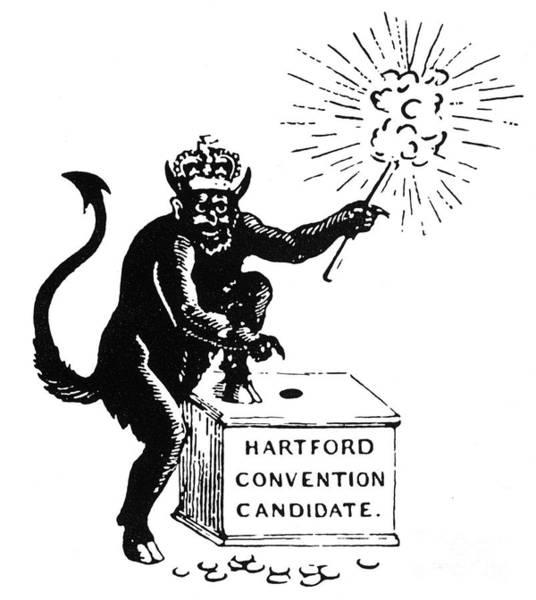 Parody Photograph - Federalist Cartoon, 1816 by Granger