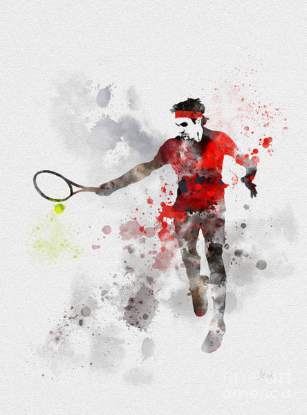 Wall Art - Mixed Media - Federer by My Inspiration
