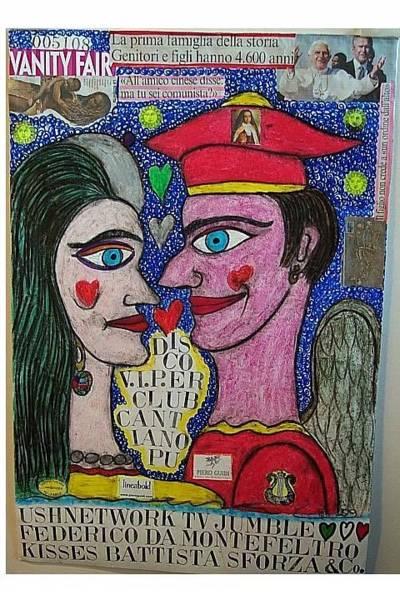 Wall Art - Mixed Media - Federico Da Montefeltro Kisses Battista Sforza  by Francesco Martin