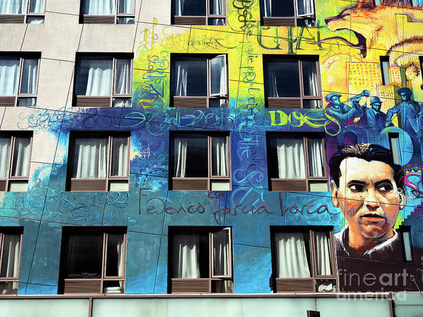 Photograph - Federico Garcia Lorca Mural by John Rizzuto