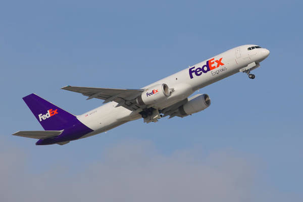 Fedex Jet Art Print