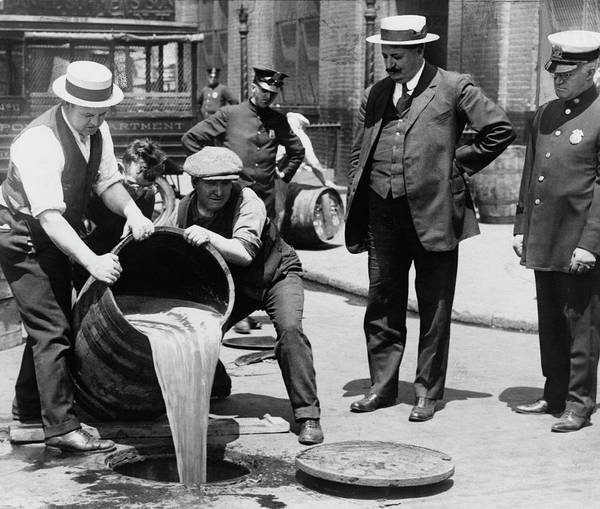 Wall Art - Photograph - Feds Dump Prohibition Beer In Sewer C. 1925 by Daniel Hagerman