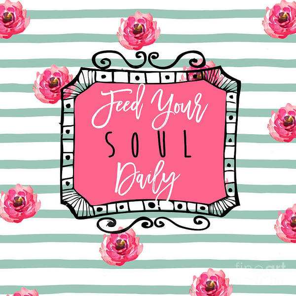 Scribble Painting - Feed Your Soul Daily by Mindy Sommers