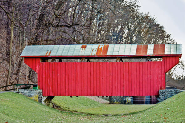 Photograph - Feedwire Road Covered Bridge by Jack R Perry