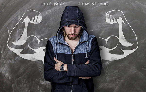 Feel Weak Think Strong Art Print