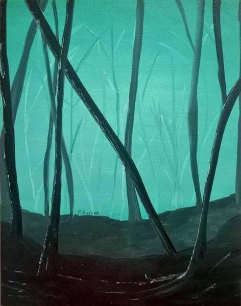 Green Painting - Feeling Foggy by Stephanie Ekwere