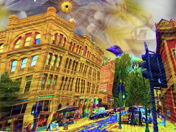 Port Townsend Digital Art - Feeling Funny In Sunny Port Townsend by Glen Faxon