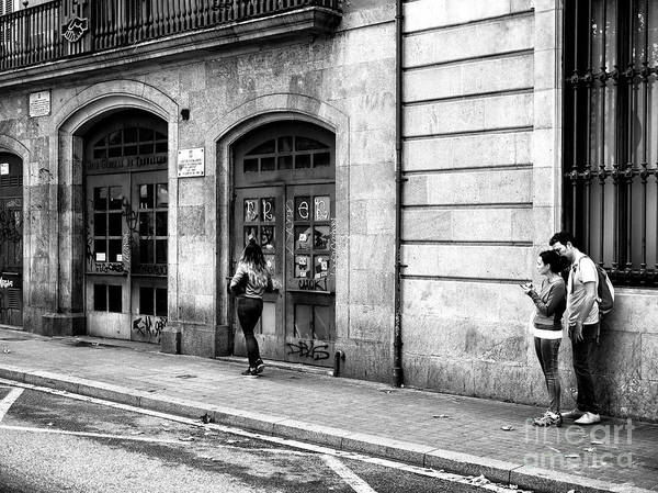 Photograph - Feeling Insecure In Barcelona by John Rizzuto