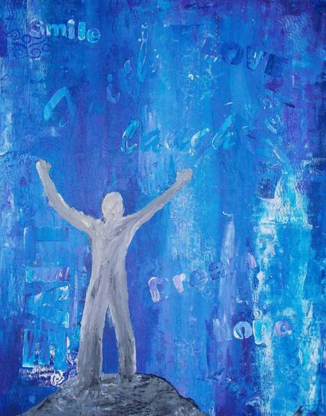 Samantha Painting - Feeling On Top Of The World by Samantha Whitten