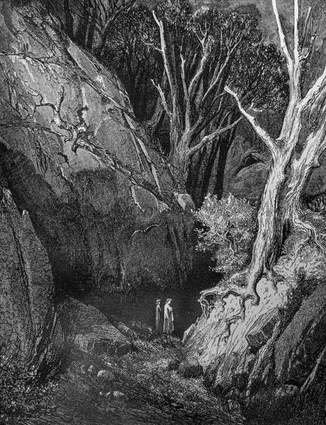 Charcoal Drawing Photograph - Feeling Small In A Ravine by Douglas Barnett