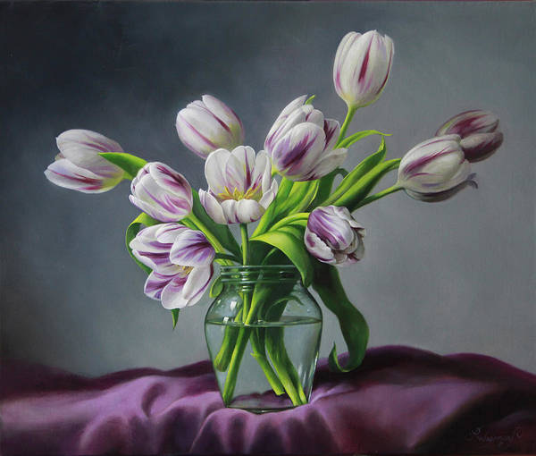 Tulip Wall Art - Painting - Feelings by Pieter Wagemans