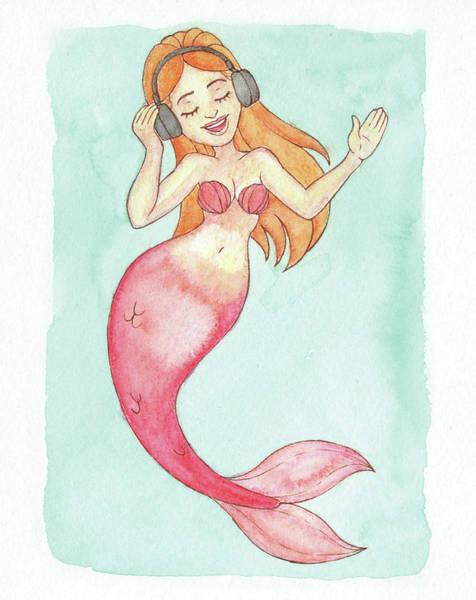 Inking Painting - Feels Mermaid - Mermay 2018 by Armando Elizondo