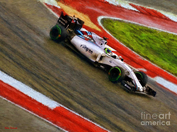 Photograph - Felipe Massa 2015 Williams by Blake Richards